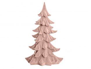 Choinka welurowa BBHome Velvet Pink Xmas Tree 24x14x37cm