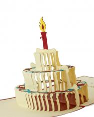 Kartka urodzinowa BBHome Birthday Cake 12x12cm