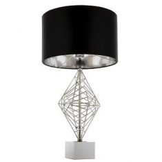 Lampa stołowa Caracas Silver Black 38x70cm Cosmo Light