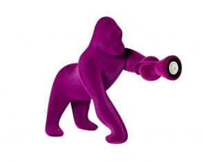 Lampa stołowa goryl Kong Velvet Purple QeeBoo 56x35x58cm