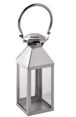 Lampion na świece BBHome Chelsea Silver M.12x12x40cm