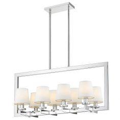 Lampa wisząca London Silver/White 8L 82x35x41cm Cosmo Light