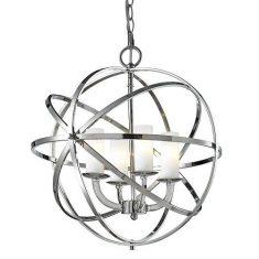 Lampa wisząca Orlando Silver 4L Cosmo Light  45×52,6cm