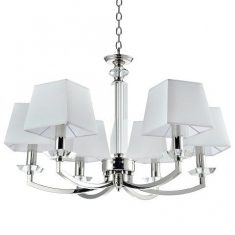 Żyrandol Dubai Crystal Silver/White 6L 70x41cm Cosmo Light