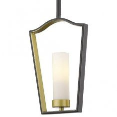Lampa wisząca Dublin Black/Gold 1L 18,5x5x28cm Cosmo Light