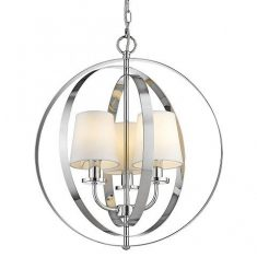 Lampa wisząca Berlin Silver/White 46x52cm Cosmo Light