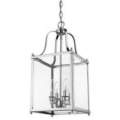 Lampa wisząca New York Silver  4L 28x28x60cm Cosmo Light