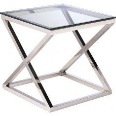 Stolik boczny New Yorker Silver 60x60x60cm Cosmo Light