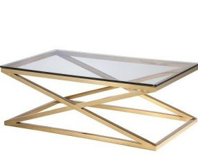 Stolik kawowy New Yorker Gold 120x70x44cm Cosmo Light