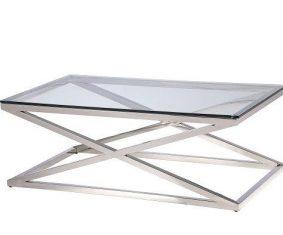 Stolik kawowy New Yorker Silver 120x70x44cm Cosmo Light