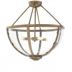 Lampa wisząca Eichholtz Deveraux Antique Brass 60x55cm