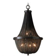 Żyrandol z łańcuszkami Roma Black 46x75cm Cosmo Light
