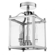 Lampa sufitowa Broadway Silver 3L 20x20x33,5cm Cosmo Light
