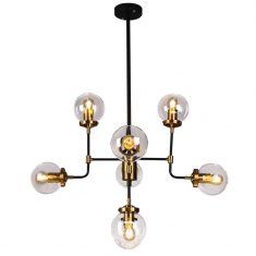 Lampa wisząca Boston Black Gold 8L 78x94cm Cosmo Light