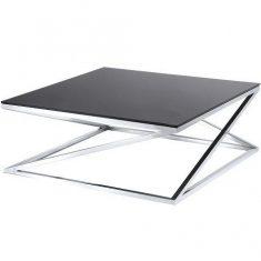 Stolik kawowy szklany Imperial Black 100x100x39cm Cosmo Light