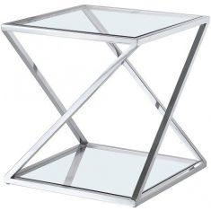 Stolik boczny szklany Imperial 50x50x54cm Cosmo Light