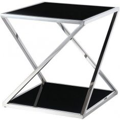 Stolik boczny Imperial Black 50x50x54cm Cosmo Light
