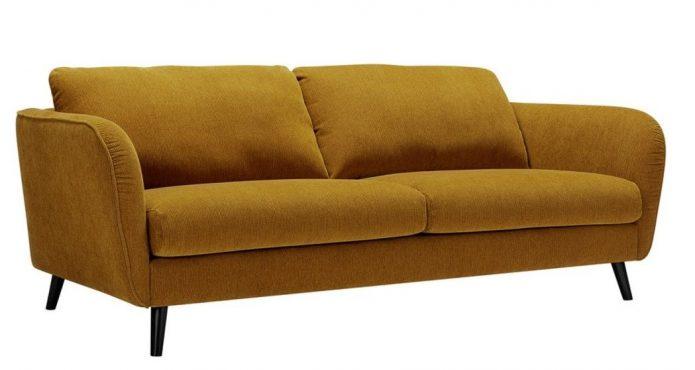 Modne sofa tapiecerowana metal sypialnia aranżacja