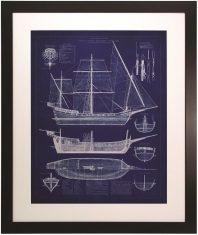 Obraz Przekrój Statku I  79 x 1.5 x 94.5 cm