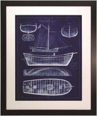 Obraz Przekrój Statku II  79 x 1.5 x 94.5 cm