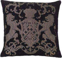 Poduszka żakardowa Fiorantello Black&Silver FS Home Collections 55x55cm