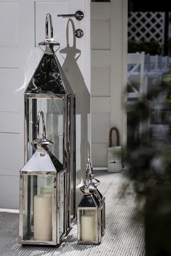 Lampion na świece BBHome Chelsea idealny dodatek do aranżacji w stylu nadmorskim
