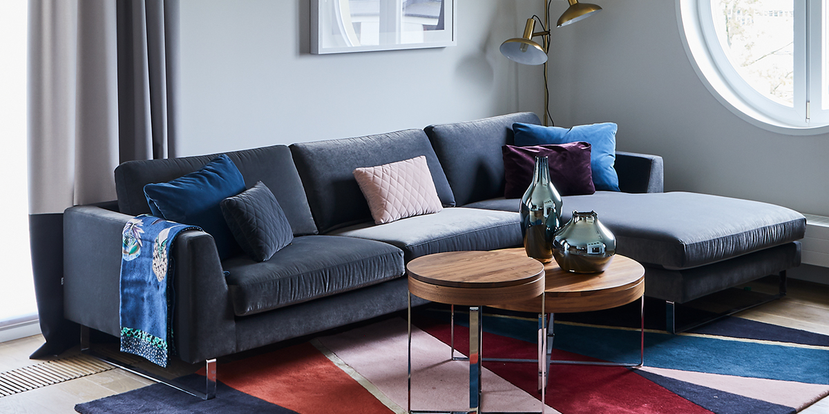 Nowoczene sofa tapiecerowana - Sofa modułowa Ohio marki Sits
