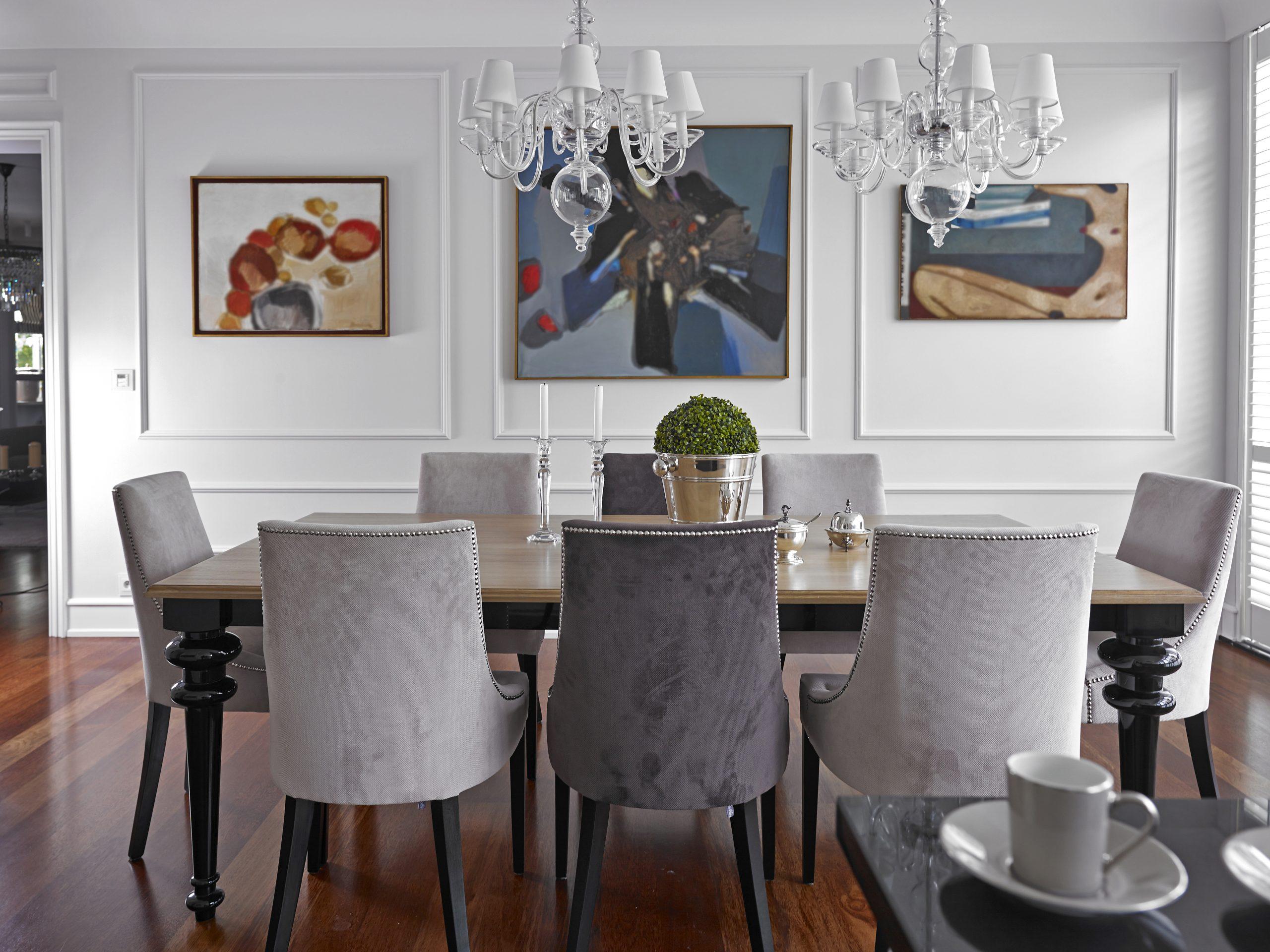 Modny tapicerowane krzesła lite drewno łazience na zamówienie