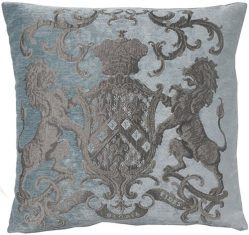 Poduszka żakardowa Fiorantello Sky Blue FS Home Collections 55x55cm