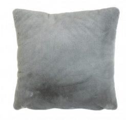 Futrzana poduszka Fauxfur Dark Grey 45x45cm