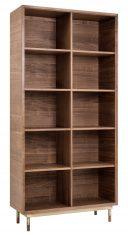 Regał książki 3904 Bugsy Walnut Ziemann 100x40x212cm