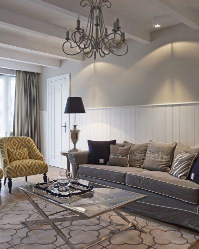 Aranżacja wnętrza - salon w stylu Hamptons - projekt BBHome