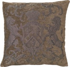 Poduszka dekoracyjna Fiorantello Taupe&Silver FS Home Collections 55×55 cm