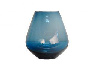 Niebieski wazon Tulipe Bleu BBHome 20x22cm