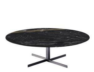 Stolik kawowy marmurowy Formia Black & Gold 110x36cm