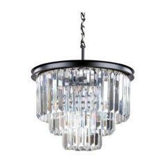 Lampa wisząca kryształowa Odeon Black 50x51cm