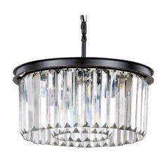 Lampa wisząca kryształowa Odeon Black  50x50x24,5cm