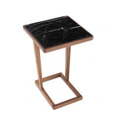 Stolik boczny z kamieniem 7045 AMARANTH Ziemann 42x42x62cm