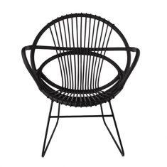 Krzesło rattanowe Singapore Black Pols Potten