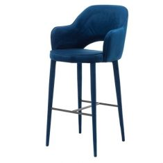 Krzesło barowe Cosy Blue Velvet Pols Potten
