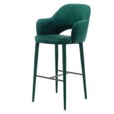 Krzesło barowe Cosy Green Velvet Pols Potten
