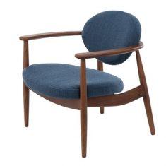 Fotel Roundy Dark Blue Pols Potten