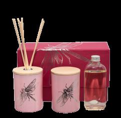 Zestaw zapachowy Dragonfly Pink dyfuzor + świeca