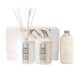 Zestaw zapachowy Dumbledore White&Silver dyfuzor + świeca