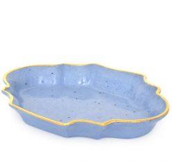 Miseczka w stylu francuskim, niebieska porcelanowa Majolika Nieborów