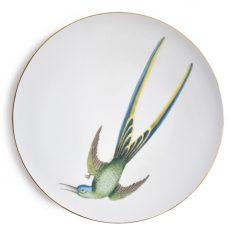 Talerz porcelanowy z ptakiem Colibri Thalassin Majolika Nieborów 32cm