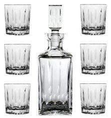 Zestaw kryształowy Ann karafka + 6 szklanek do whisky