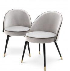 Komplet krzeseł Roche Cooper L. Grey Eichholtz -2szt