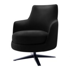Fotel Toronto Black Almi Decor 71x77x81cm