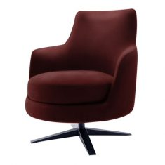 Fotel Toronto Burgund Almi Decor 71x77x81cm